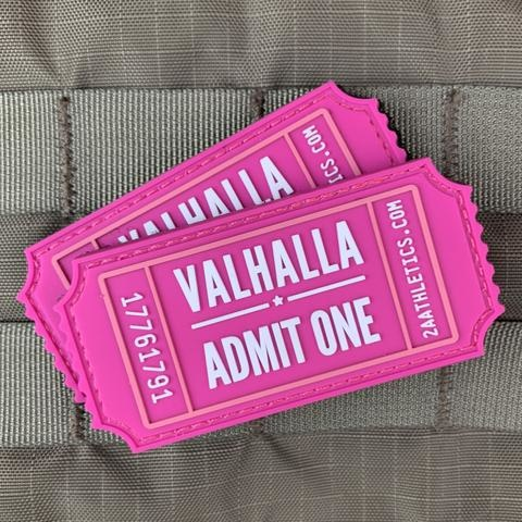 Violent Little Machine Shop Violent Little Machine Shop Valhalla Admit One Morale Patch - Breast Cancer Edition