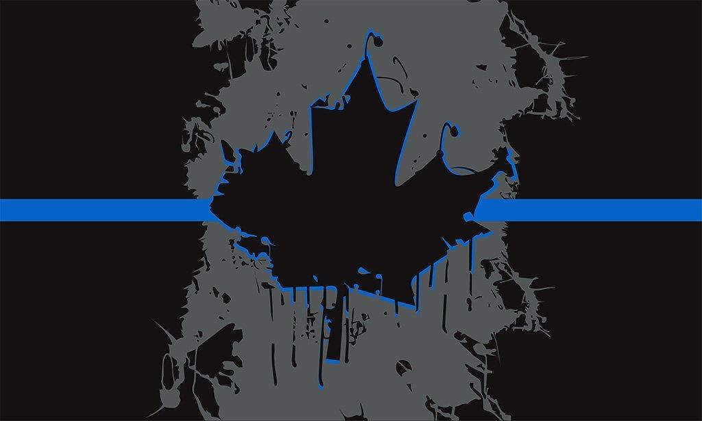 Blackbird Industries Blackbird Industries 3X5 Canadian Flag Thin Blue Line