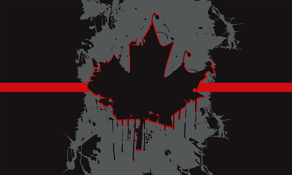 Blackbird Industries Blackbird Industries 3X5 Canadian Flag Thin Red Line