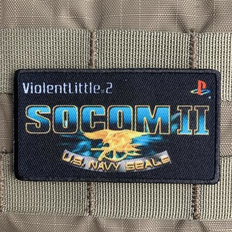 "Violent Little Machine Shop Violent Little Machine Shop ""SOCOM II"" Playstation Morale Patch"