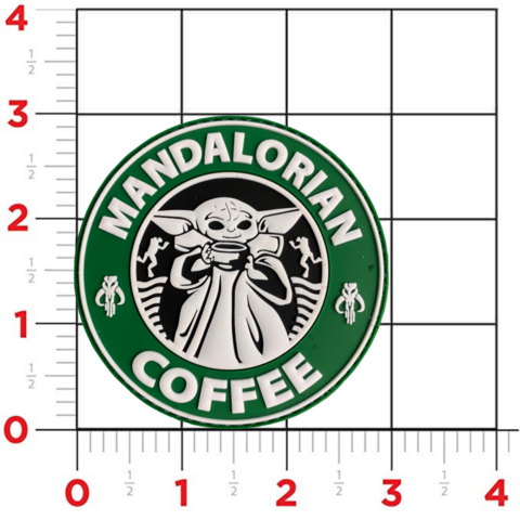 "Violent Little Machine Shop Violent Little Machine Shop ""Mandalorian Coffee"" PVC Morale Patch"