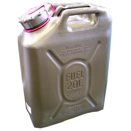Scepter Scepter Military Fuel Canister 20L Gasoline Olive Drab