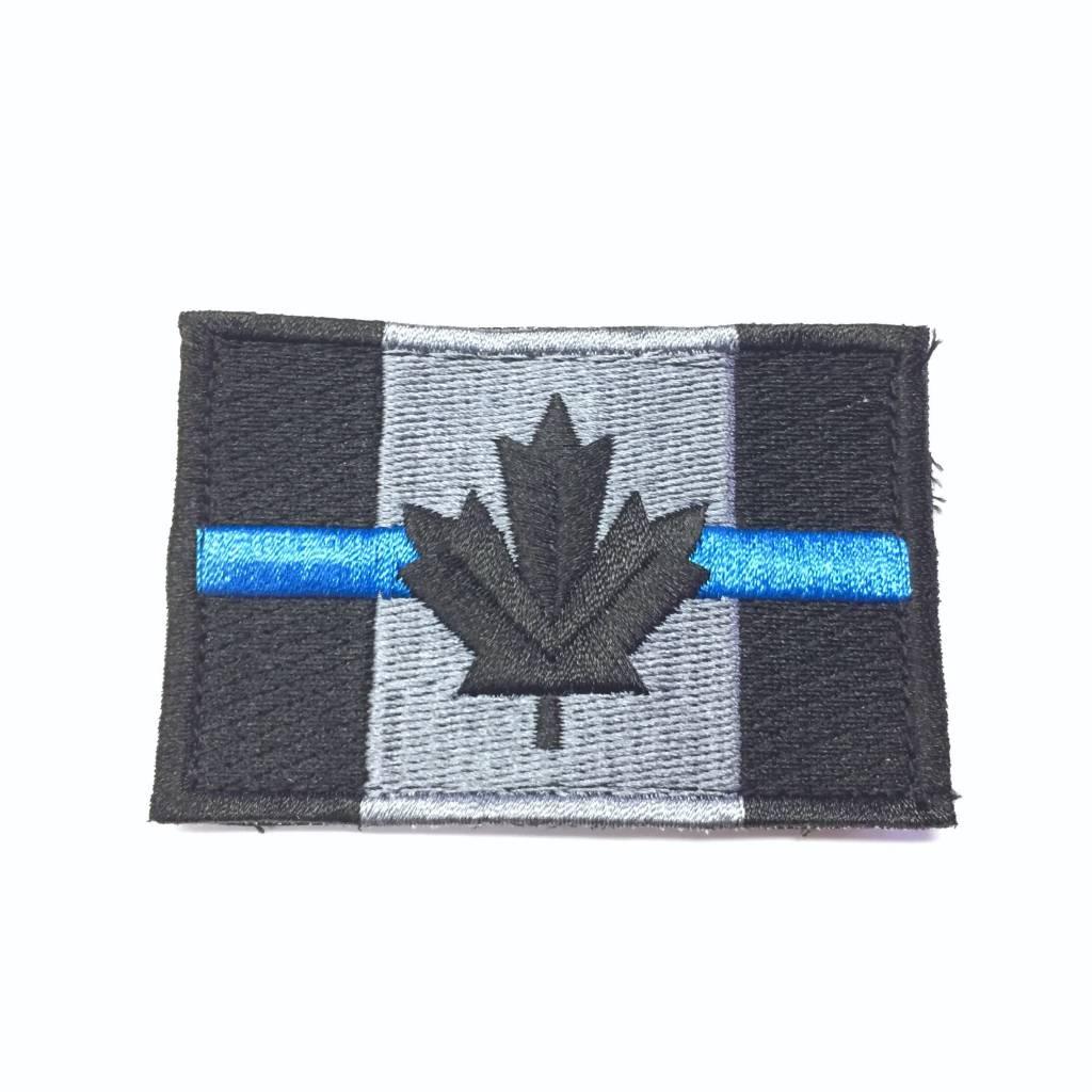 Custom Canadian Flag, Large, Blue Line