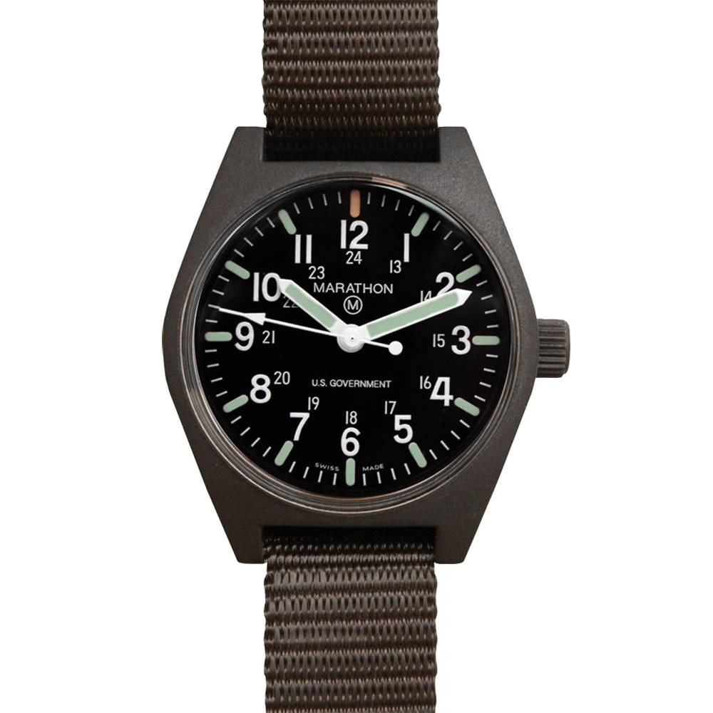Marathon Watches Marathon Watches General Purpose Quartz w/ Non-Tritium MaraGlo - Swiss Made Military Field Army Watch