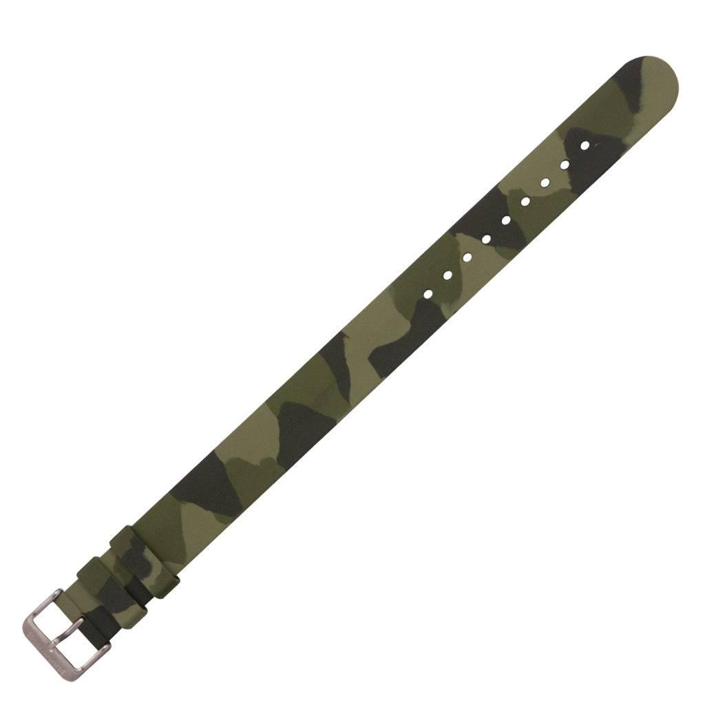 Marathon Watches Marathon Watches Camouflage Rubber Watch Band, 1-Piece Construction