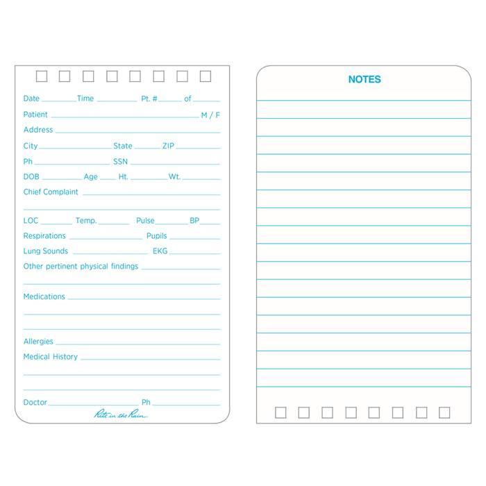 Rite in the Rain Rite in the Rain Vital Stats (EMS) Notebook