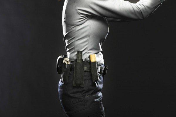 Blue Force Gear Blue Force Gear Belt Mounted Ten-Speed Extendable Baton Pouch With Adjustable Belt Loop, Black