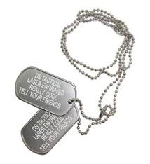 Silver dog tag set the marine shop