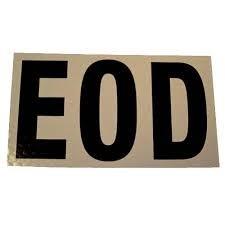 EOD IR Patch, Large, Tan