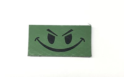 Happy Face IR Patch, Small, OD Green
