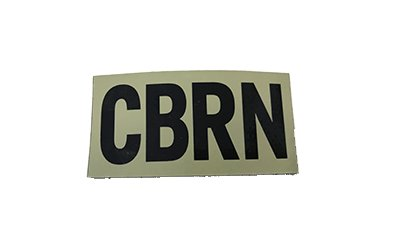 CBRN (Chemical/Biological/Radiological/Nuclear) IR Patch, Large, Tan