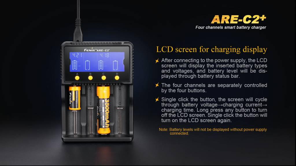 Fenix 4-Channel Battery Charger (ARE-C2+)