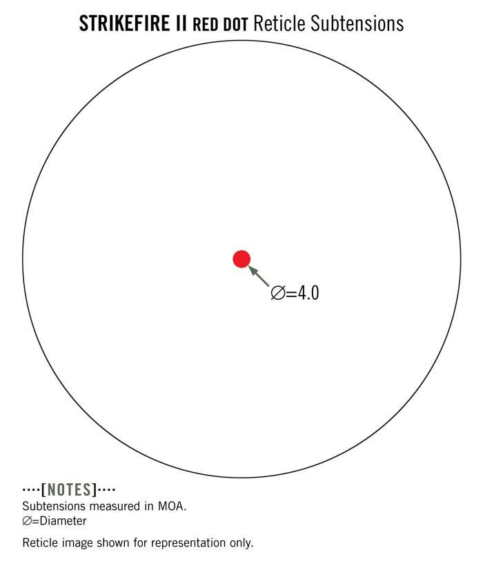Vortex Vortex StrikeFire II Red Dot (4 MOA Lower 1/3 Co-Witness)