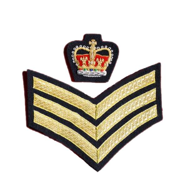Emblazon Staff Sergeant Rank Badge - Municipal
