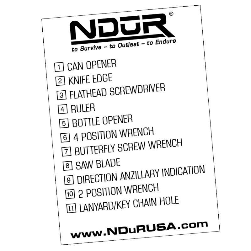 NDuR 11-In-1 Survival Card Tool