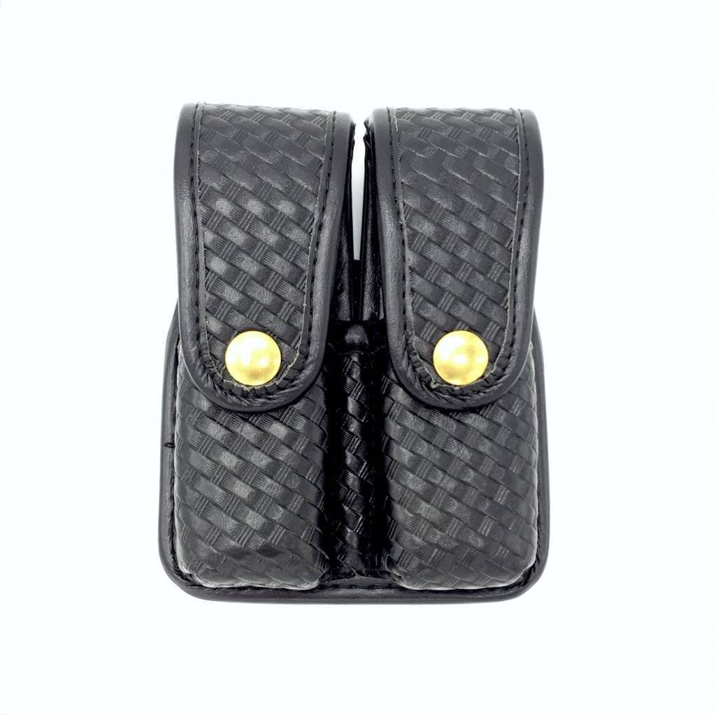 Pecian Pecian Double Mag Pouch 9mm - Basketweave
