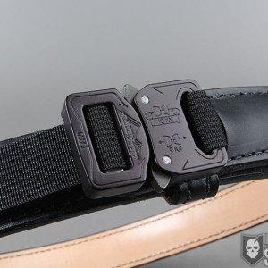 "Mean Gene Leather Barbarian Belt 1.5"" Cobra Buckle"