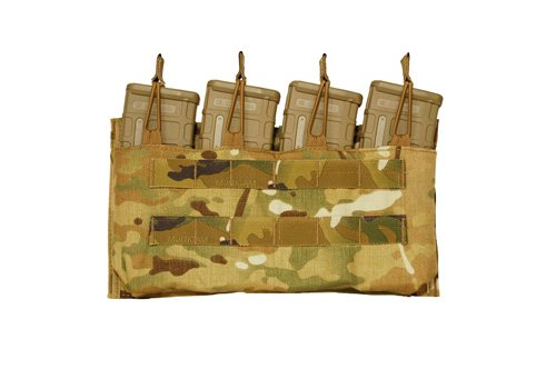 Mayflower Mayflower Quad M4 Open Top Mag Pouch, MOLLE*