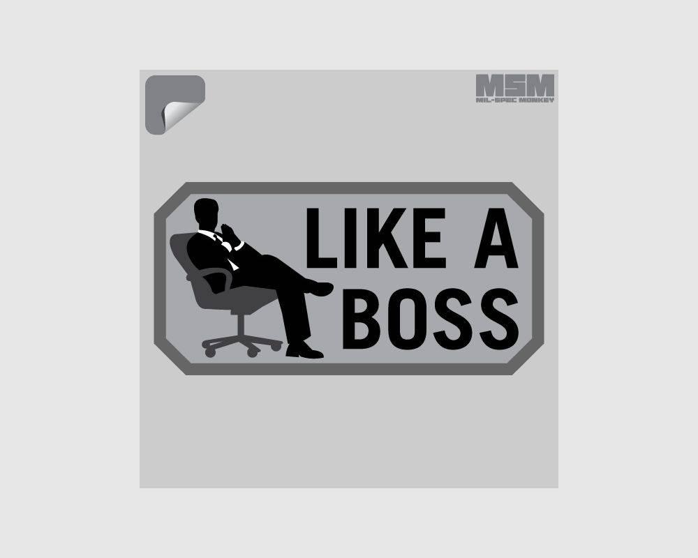 Milspec Monkey MSM Like A Boss Decal, SWAT
