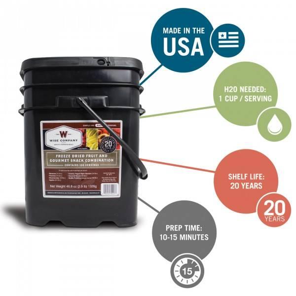 Wise Foods 120 Serving Fruit Bucket