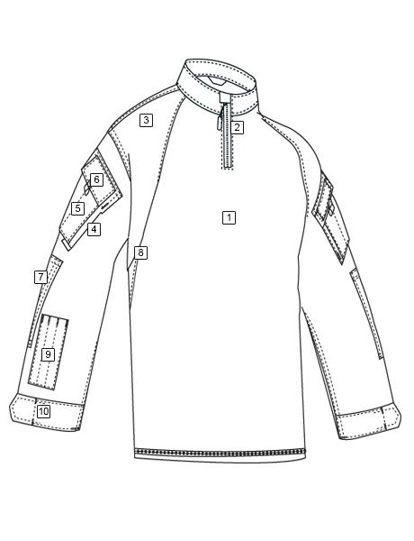 Tru-Spec T.R.U. Combat Shirt, Nyco R/S 1/4 Zip