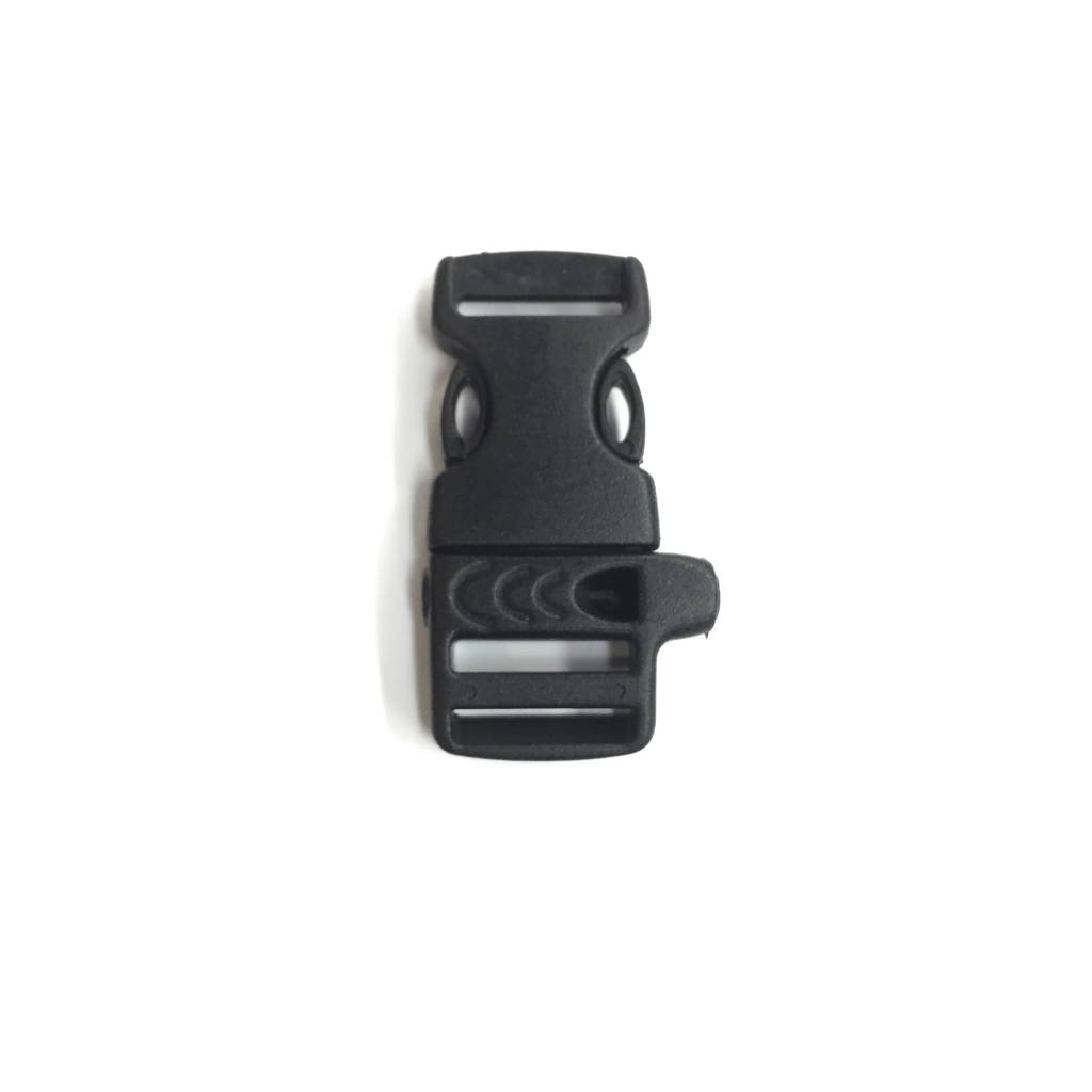 "Custom 5/8"" Whistle Buckle (Set) Black"