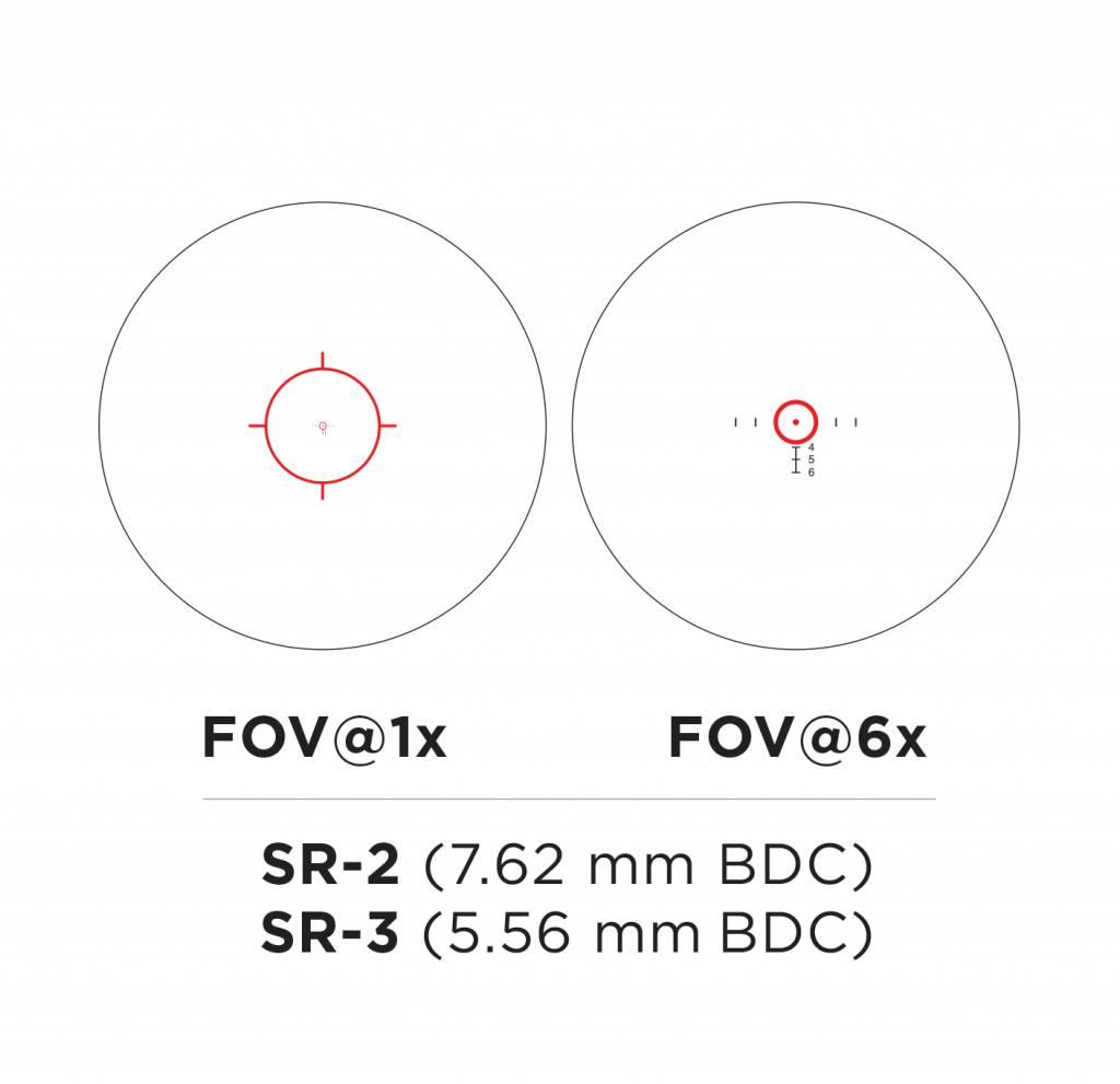 EOTech EOTech VUDU 1-6x24 FFP Riflescop - SR3 Reticle (MOA)