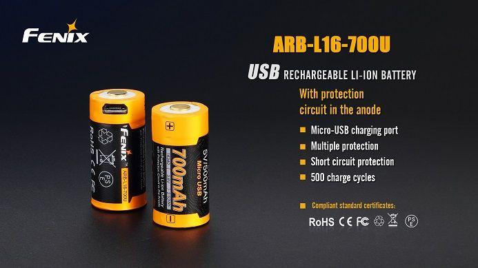 Fenix Fenix ARB-L16-700U 700mAh 16340 battery