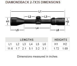 Vortex Vortex Diamondback 2–7x35 Rimfire Riflescope with V-Plex Reticle