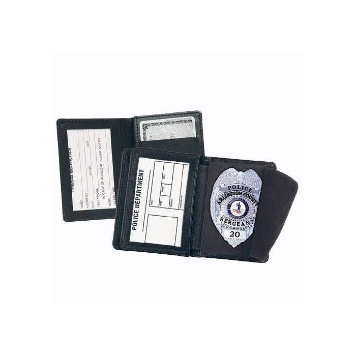 Strong Leather Side Open Badge Case with Credit Card Slots
