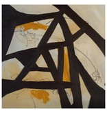 "Steve McKenzie Art Capriata di Castagno (Chestnut Truss) by Steve McKenzie mixed media acrylic and graphite on canvas size 27.5"" x 27.5"""