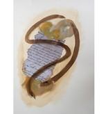 "Steve McKenzie Art Venice by Steve McKenzie mixed media on paper acrylic, replica of handwritten story of the Lunigiana written in 1795, Walnut ink on 100% cotton rag paper 19.5"" x 28"""
