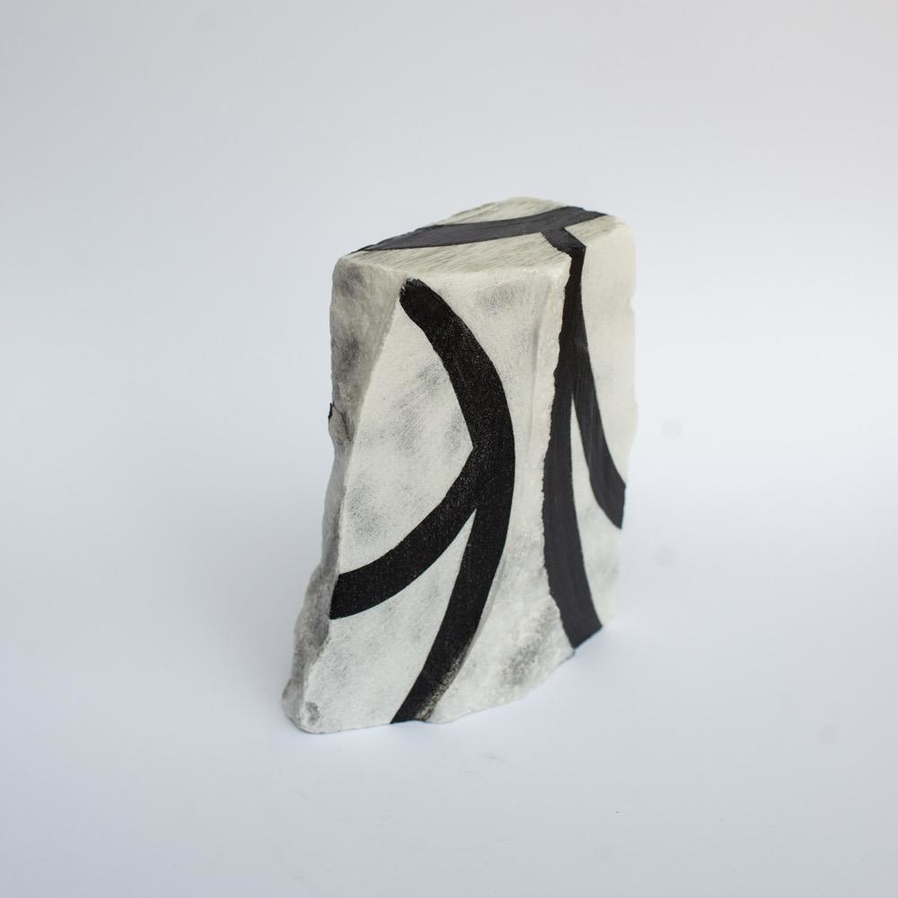 "Steve McKenzie Art Aulla by Steve McKenzie Ink on Carrara Marble approximately 7"" tall x 4"" W x 5"" L"