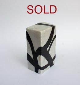 "Steve McKenzie Art Casola by Steve McKenzie Ink on Carrara Marble approximately 7"" tall x 4"" W x 5"" L"