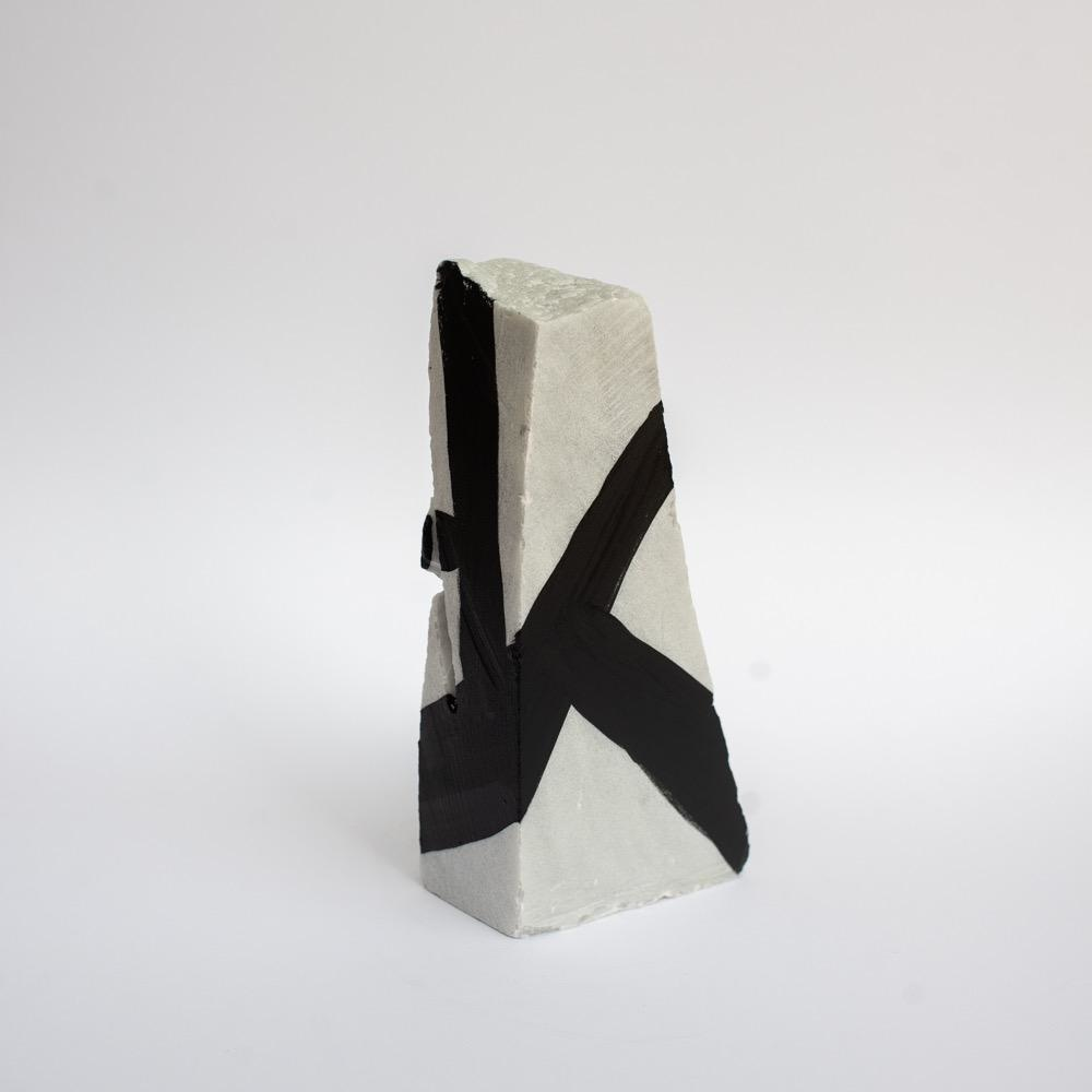 "Steve McKenzie Art Fivizzano by Steve McKenzie Ink on Carrara Marble approximately 7"" tall x 4"" W x 5"" L"