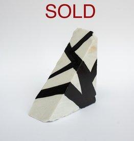 "Steve McKenzie Art Monzone by Steve McKenzie Ink on Carrara Marble approximately 7"" tall x 4"" W x 5"" L"