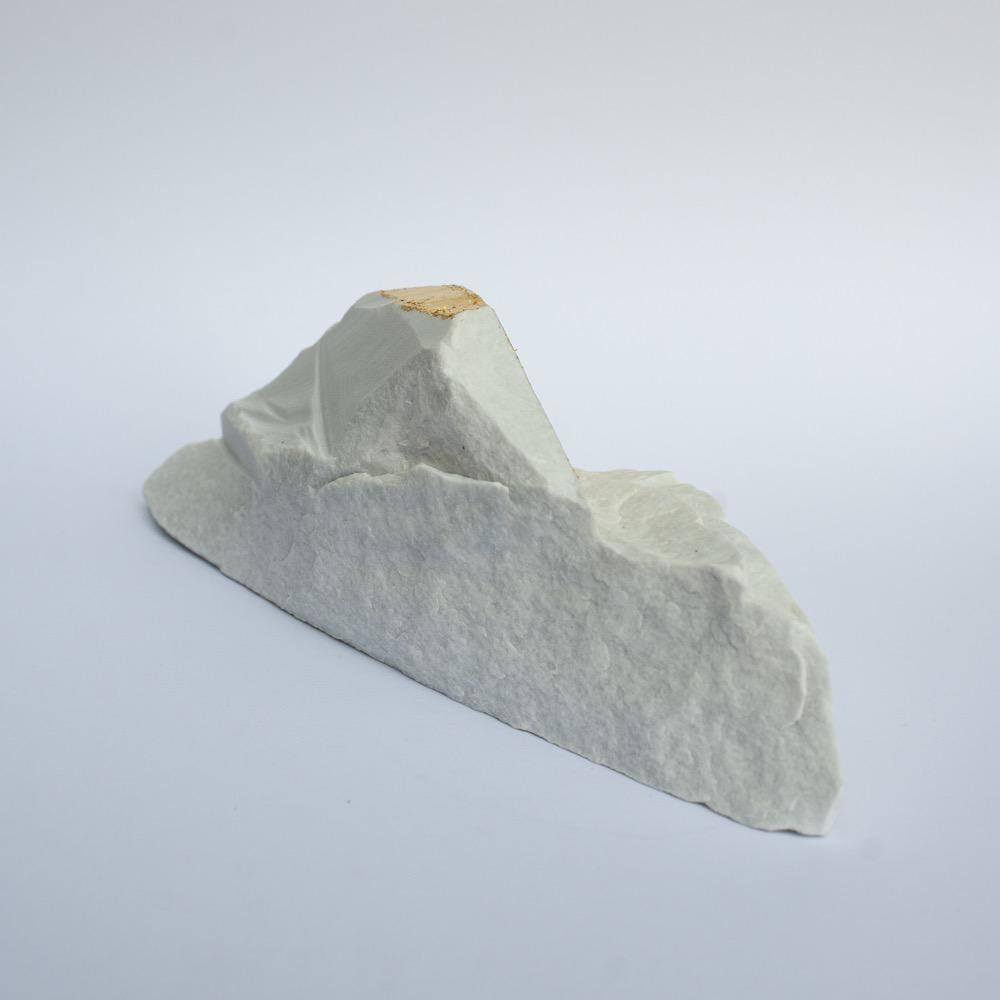 "Steve McKenzie Art Pontremoli by Steve McKenzie 23K gold leaf on Carrara Marble approximately 5"" tall x 5"" W x 9"" L"