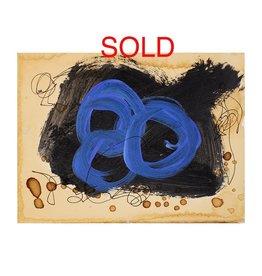"""Steve McKenzie Art Trinità (Trinity)  by Steve McKenzie mixed media acrylic and ink on 100% rag paper size 4.5"""" x 6"""""""