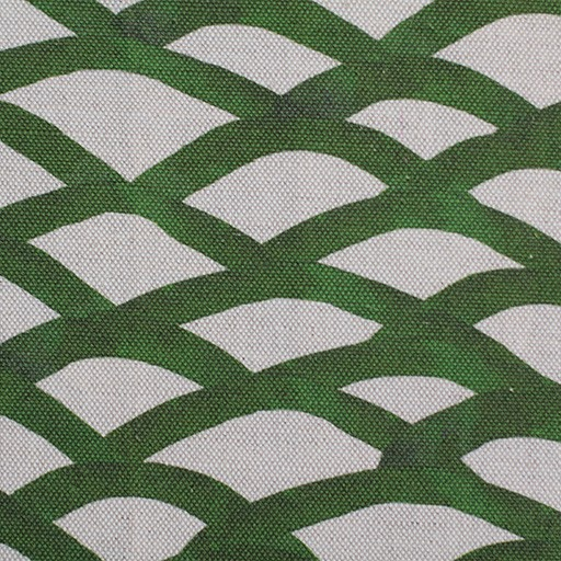 steve mckenzie's Scallop Print Fabric Flax Background