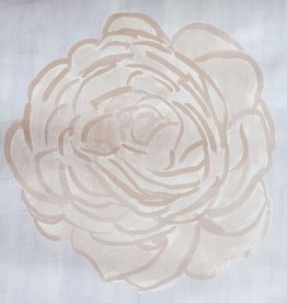 "steve mckenzie's Blush Single Rose Pillow 24"" x 24"" (2 printed)"