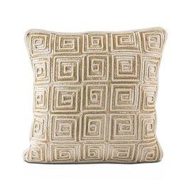 """16""""x16"""" Linen Pillow Maze of Sequins"""