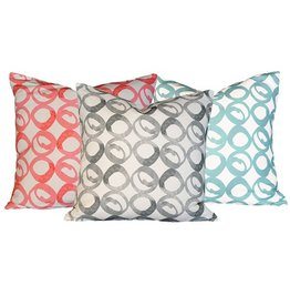 "steve mckenzie's Circle Linen Pillow Oyster Background 20""x20"""