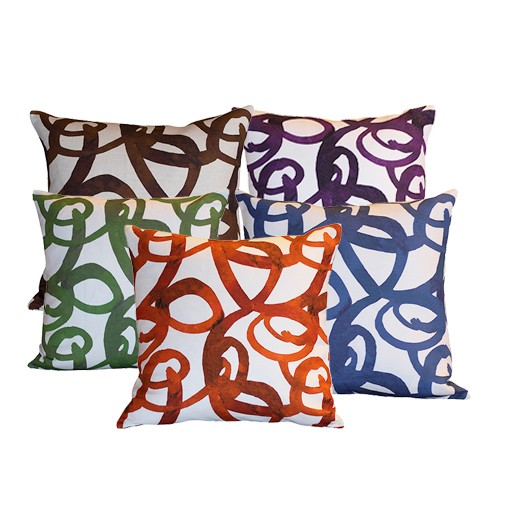 "steve mckenzie's Loop Linen Pillow Oyster Background 20""x20"""