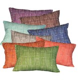 "steve mckenzie's Gingham Linen Pillow Oyster Background 14""x20"""