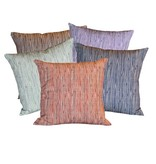 "steve mckenzie's Pinstripe Linen Pillow Flax Background 20""x20"""