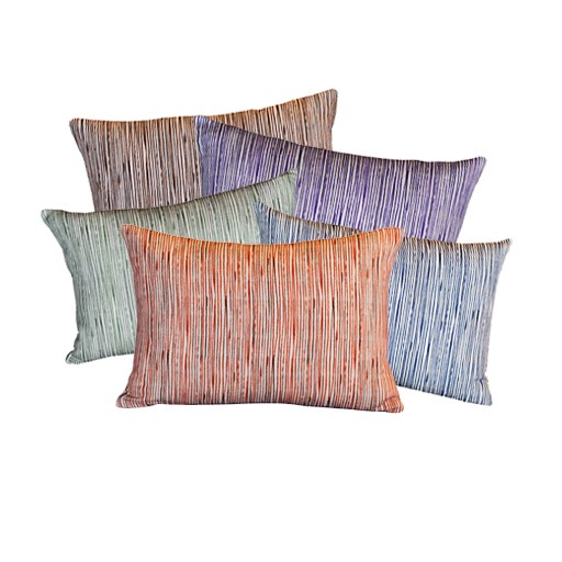 """steve mckenzie's Pinstripe Linen Pillow Flax Background 14""""x20"""""""