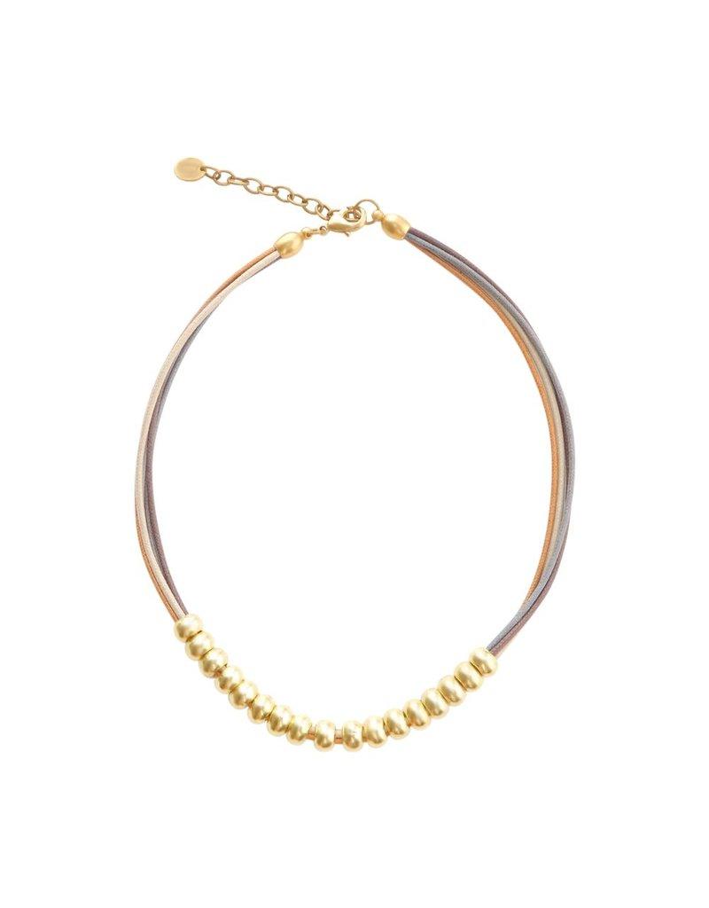 Carme Anglada Metal beads cotton cord N