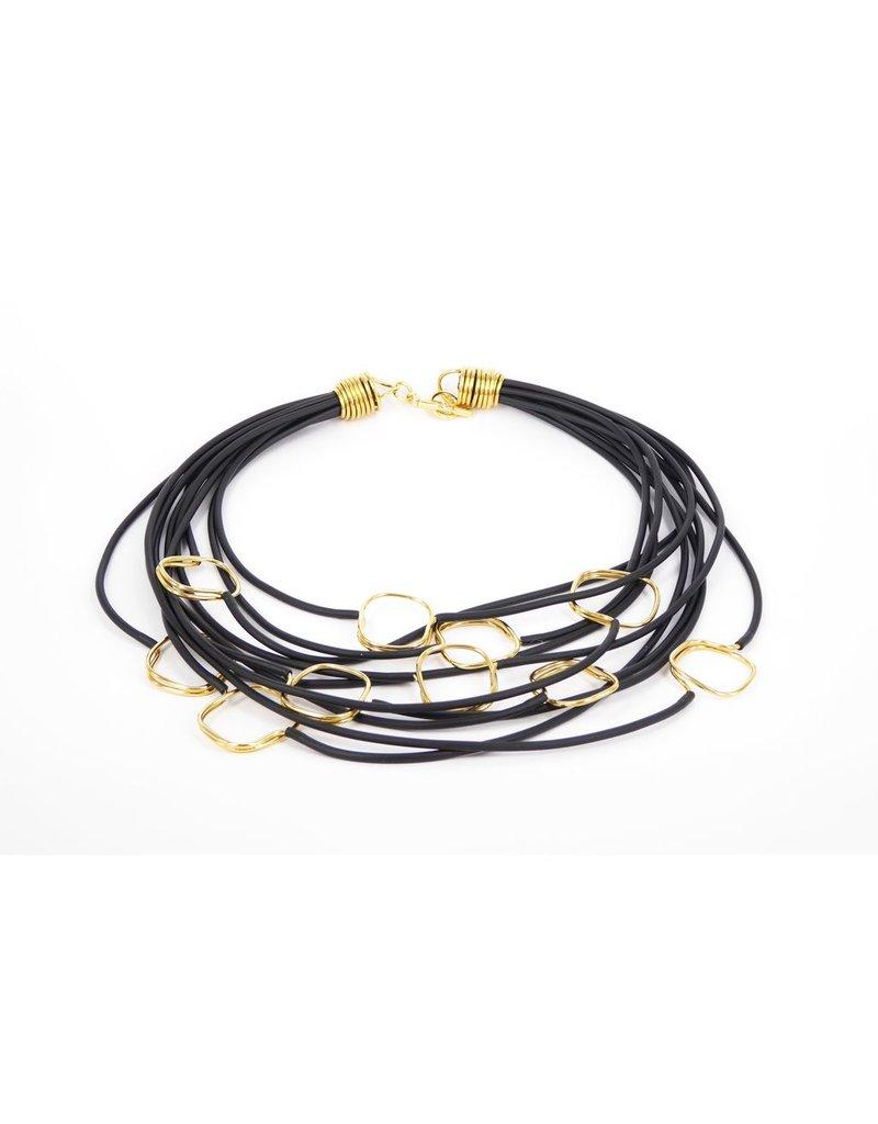 Iron by Miriam Nori PVC multi strand brass square N