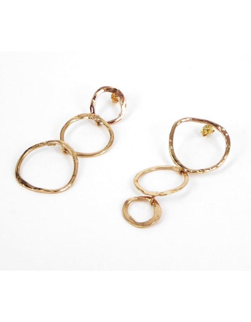 Iron by Miriam Nori SCULTURE brass alternate 3 loop E