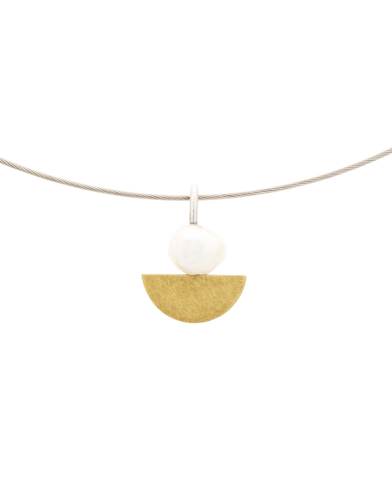 Aines Gold half sphere white N